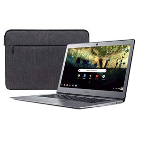 Acer Chromebook 14, Celeron N3160, 14″ Full HD, 4GB LPDDR3, 16GB eMMC, CB3-431-C9W7 Bundle, Silver