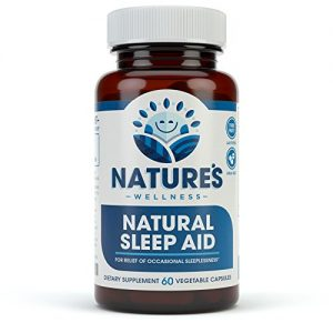Premium Natural Sleep Aid for Adults – Effective Relief – Non Habit Forming – Wake Up Feeling Refreshed – Proprietary Blend with Melatonin, Tryptophan, Magnesium, Valerian, Chamomile & More – 60 Veg